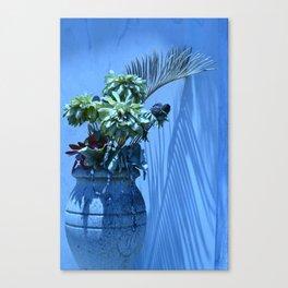 Blue Mood Vase Canvas Print