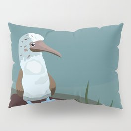 Blue-footed Booby in the wild. Pillow Sham