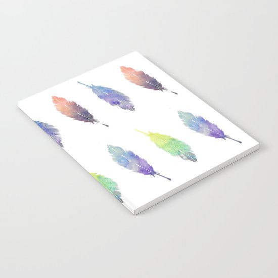 Feathers pattern Notebook