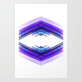 Future Boho - Ultra Violet Minimal Geometric Abstract Art Print