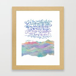 He Has Made Everything Beautiful-Ecclesiastes 3:11 Framed Art Print