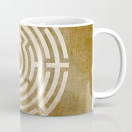 Solving Mazes Gold Coffee Mug