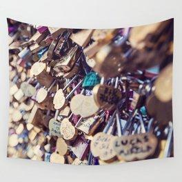 Paris Love Locks Wall Tapestry