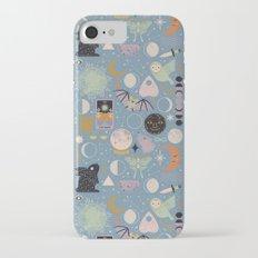 Lunar Pattern: Blue Moon iPhone 7 Slim Case