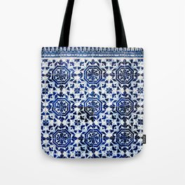 Cobalt Flourish Tote Bag