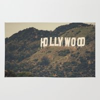 hollywood Area & Throw Rugs featuring Old Hollywood by CMcDonald