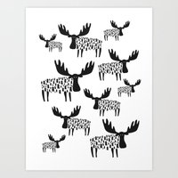 Can't Tell the Moose for the Trees Art Print