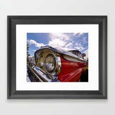 Classic 50's American Car Framed Art Print