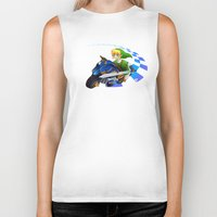 mario kart Biker Tanks featuring Mario Kart 8 - Link on the Mastercycle by brit eddy