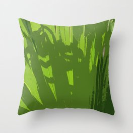 Five Shades  Of Green Throw Pillow
