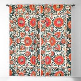 Shakhrisyabz Suzani Uzbek Embroidery Print Blackout Curtain