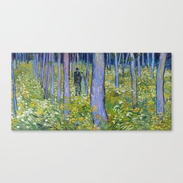 Vincent van Gogh Undergrowth with Two Figures Canvas Print