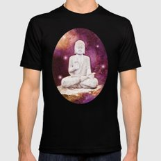 BUDDHA | Red Lights Mens Fitted Tee Black X-LARGE
