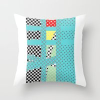 dots Throw Pillows featuring DOTS by  ECOLARTE