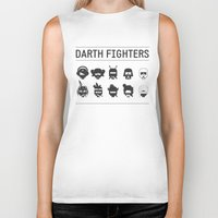 foo fighters Biker Tanks featuring Darth Fighters by Nillustra™