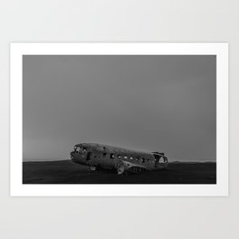 The DC3 Plane wreck in Iceland Art Print