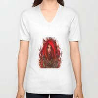 red riding hood V-neck T-shirts featuring  Red Riding Hood by ururuty
