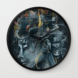 Dream in a Cage Wall Clock
