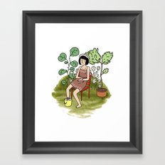Le Jardin. Framed Art Print