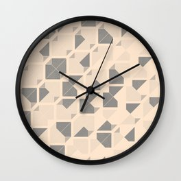 Geometric seamless pattern design with a grunge texture Wall Clock