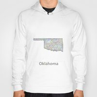 oklahoma Hoodies featuring Oklahoma map by David Zydd