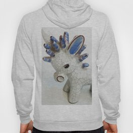 Modern Donkey Illustration with blue hair Hoody
