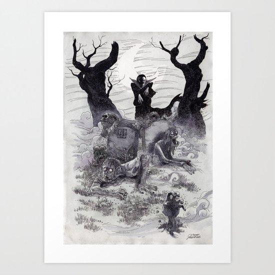 Vampires & Zombies Art Print