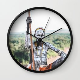 Karo Tribe IV Wall Clock