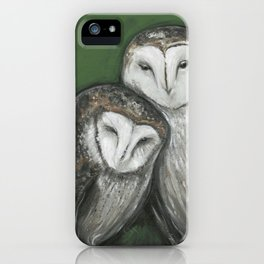 Soul Mates // Barn Owls Owl Bird Feather Wing Nature Love Animal Wild Nest Couple Marriage Family iPhone Case