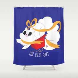 Best gift for a cat - a box! Shower Curtain