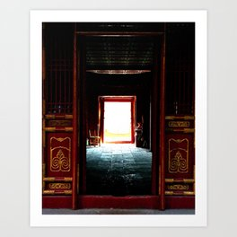 Portals; Chengde, China Art Print