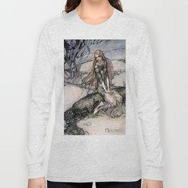 """Arthur Rackham Fairy Art from """"Undine"""" Long Sleeve T-shirt"""
