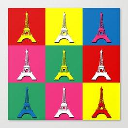 Pop art Paris Canvas Print