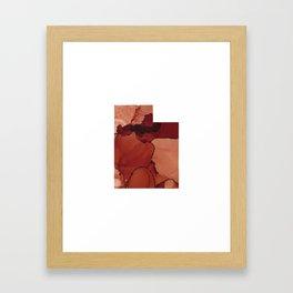 Red Rocks Inspired Utah Framed Art Print