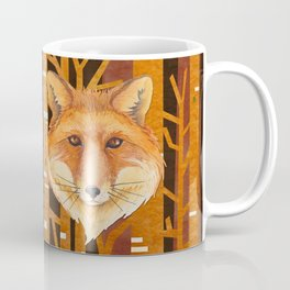 Fox Wild animal in the forest- abstract artwork Coffee Mug
