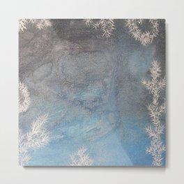 Iceflowers 2 / Acrylic Painting Metal Print