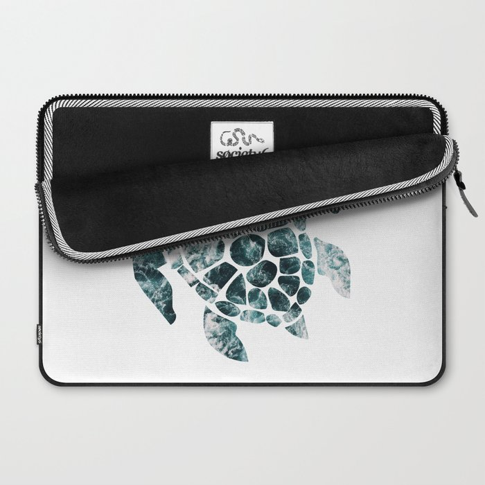 Sea Turtle - Turquoise Ocean Waves Laptop Sleeve