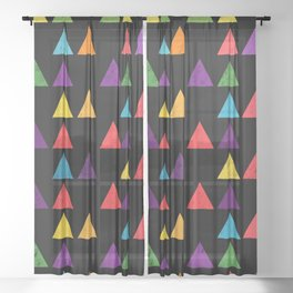 Lovely geometric Pattern XIII Sheer Curtain
