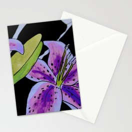 Purple tie dye flower Stationery Cards