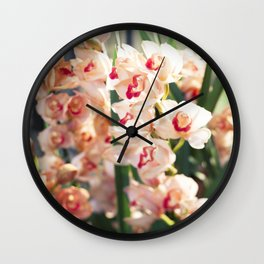 Orchid in the Sunlight  //  The Botanical Series Wall Clock