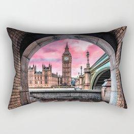 London Big Ben Pink Rectangular Pillow