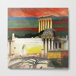 Helipolis Greek Temple Ruins by Csontváry Kosztka Tivadar Metal Print