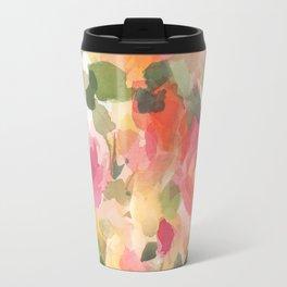 Coral Roses Travel Mug