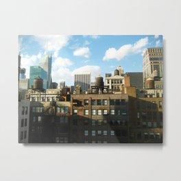 NYC Water Towers Metal Print