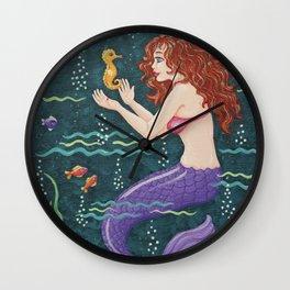 Mermaid Conversations Wall Clock