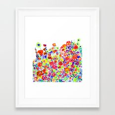 Flower Fields Tangerine Framed Art Print
