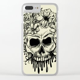 Skull & Flowers Gothic Grunge Punk Clear iPhone Case
