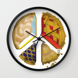 Pie of peace Wall Clock