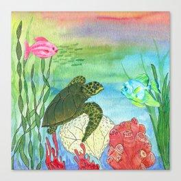 Sea Turtle Shores Canvas Print
