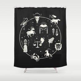 Strange Fortunes: Midnight Shower Curtain